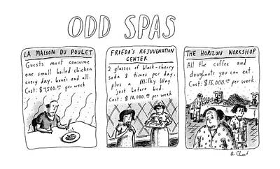 Consume Drawing - Odd Spas by Roz Chast