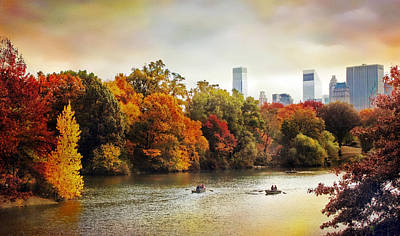 Fall Foliage Digital Art - Ode To Central Park by Jessica Jenney