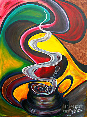 Painting - Ode To Coffee... by Jolanta Anna Karolska