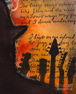 Painting - Ode To Ella And Satchmo  by Angela L Walker