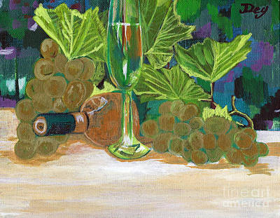 Painting - The Wine Untouched by Janelle Dey