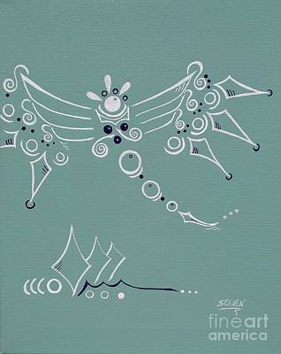 Angelic Drawing - Ode To Joy by Steven Ross