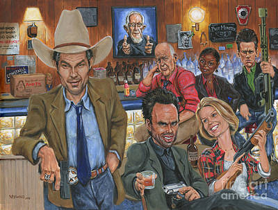 Tim Painting - Ode To Justified by Mark Tavares