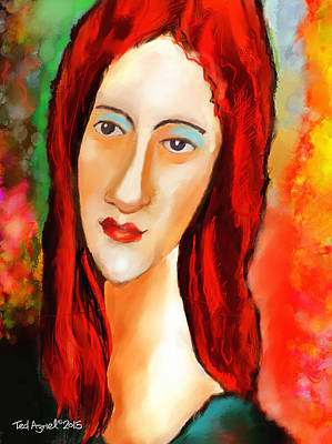 Ode To Modigliani Art Print by Ted Azriel