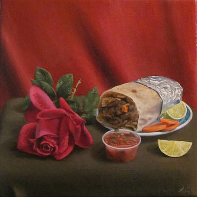 Burritos Painting - Ode To The Burrito by Art Carrillo