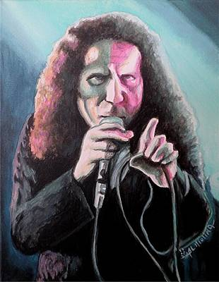 Dio Painting - Ode To The Little Giant by Al  Molina