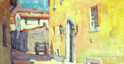 Lake Como Painting - Ode To Yellow by Jerry Fresia