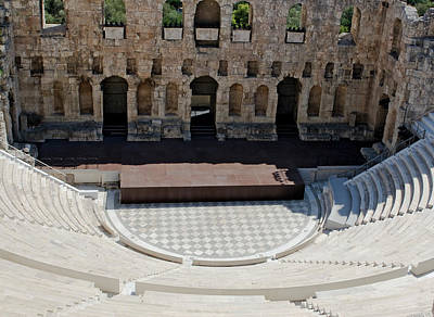Photograph - Odeon Of Herodes Atticus by Lorraine Devon Wilke