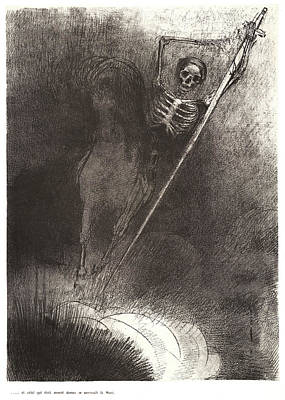 1916 Drawing - Odilon Redon French, 1840 - 1916. And His Name That Sat by Litz Collection
