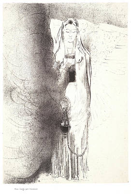 Odilon Redon French, 1840 - 1916. And The Angel Took Art Print