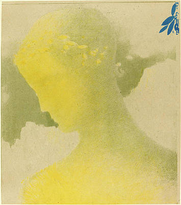 1916 Drawing - Odilon Redon French, 1840 - 1916, Béatrice by Quint Lox