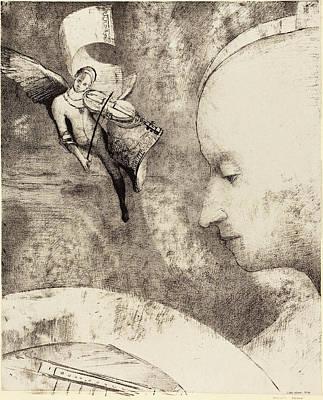 Celeste Drawing - Odilon Redon French, 1840 - 1916, Lart Celeste by Quint Lox