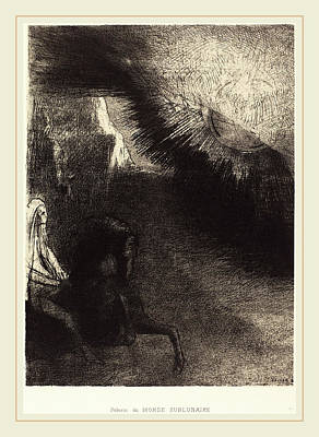 Sublunary World Drawing - Odilon Redon French, 1840-1916, Pélerin Du Monde by Litz Collection