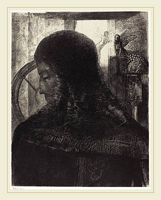 Odilon Redon French, 1867-1939, Vieux Chevalier Old Knight Art Print by Litz Collection