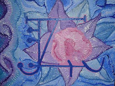 Abstract Painting - Odin's Illusionary Rune by Joanna Pilatowicz