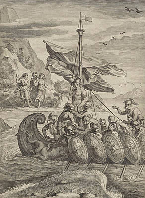Siren Drawing - Odysseus And The Sirens, Anonymous, Abraham Van Diepenbeeck by Anonymous And Abraham Van Diepenbeeck