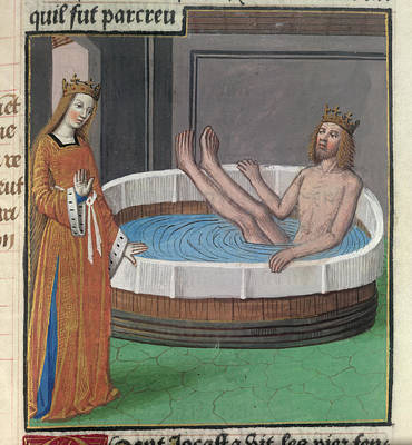 Bathe Photograph - Oedipus And Jocasta by British Library
