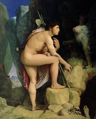 Sphinx Painting - Oedipus And The Sphinx by Ingres