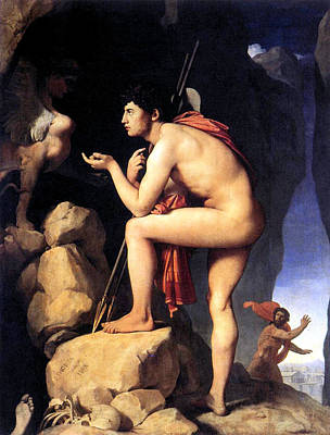 Painting - Oedipus Solves The Puzzle by Jean Auguste Dominque Ingres