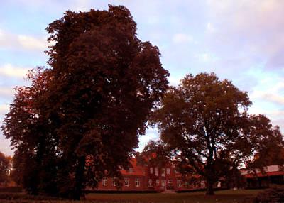 Digital Art - Oerumgaard Manor House_painting by Asbjorn Lonvig