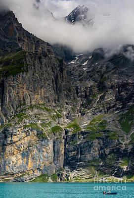 Swiss Horn Photograph - Oeschinensee Mountain - Bernese Alps - Switzerland by Gary Whitton