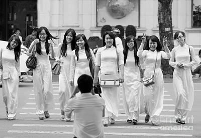 Photograph - Of Her Students by Tran Minh Quan
