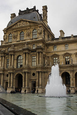 Photograph - Of Pale Pastels And Palaces - The Louvre Courtyard In Paris by Georgia Mizuleva
