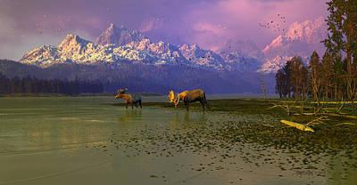 Teton Digital Art - Of Strength And Pride by Dieter Carlton