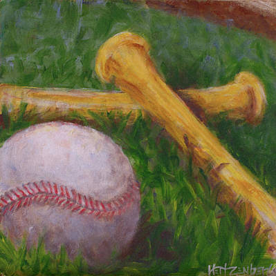 Softball Painting - Of The Game by Josh Hertzenberg
