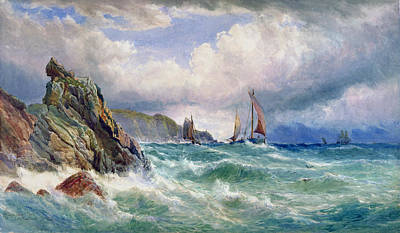 Sailboat Ocean Painting - Off Cape Clear    County Cork by John Faulkner