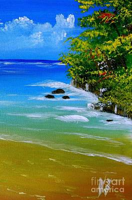 Jamaican Painting - Off For A Swim Two by Collin A Clarke
