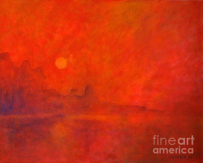 Off In The Distance Art Print by Alison Caltrider