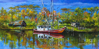 Shrimper Painting - Off Season by Dianne Parks