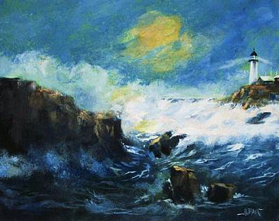 Painting - Off Shore Breakers At Dusk by Al Brown