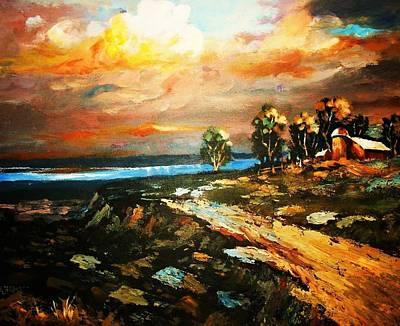 Painting - Off Shore Hideaway by Al Brown