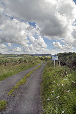 Road Sign Photograph - Off The Beaten Path -- Ireland by Betsy Knapp