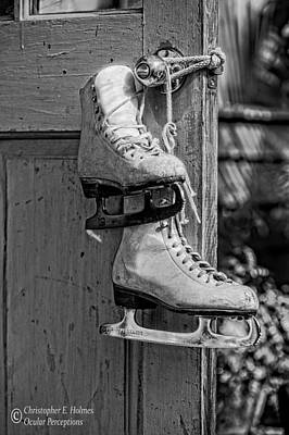 Photograph - Off The Ice - Bw by Christopher Holmes