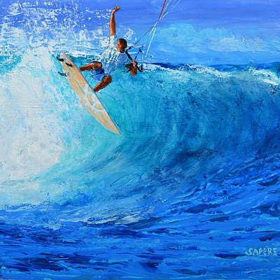 Off The Lip Art Print by Lynee Sapere