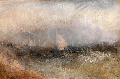 Off The Nore Squally Weather, Joseph Mallord William Turner Art Print by Litz Collection