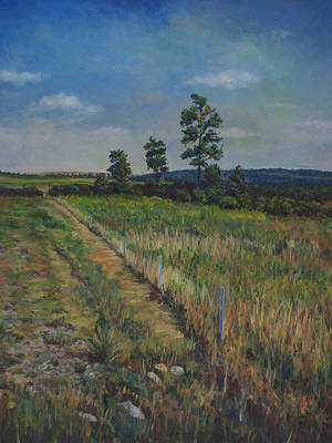 Painting - Off The Pa Turnpike Near Bedford by David P Zippi