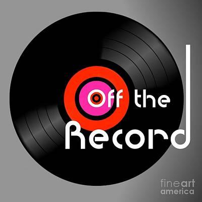 Disco Mixed Media - Off The Record by Alan Hogan