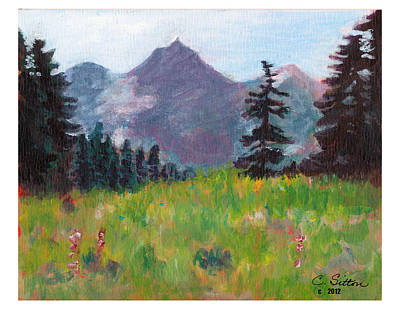 Painting - Off The Trail 2 by C Sitton