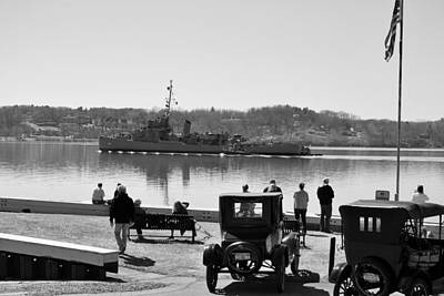 Hudson River Tugboat Photograph - Off To Repair by Kurt Von Dietsch