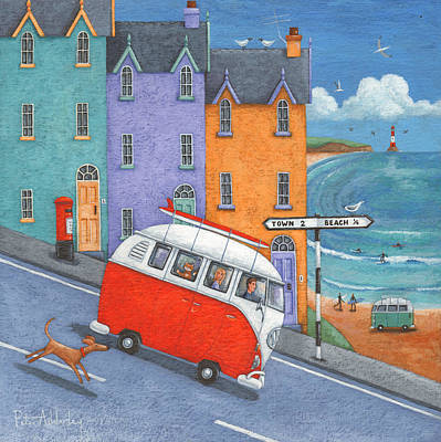 Caravan Photograph - Off To The Beach Variant 1 by Peter Adderley