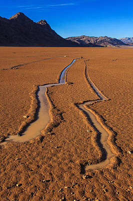 Dry Lake Photograph - Off To The Races by James Marvin Phelps