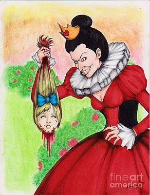 Off With Her Head Art Print by Bibo