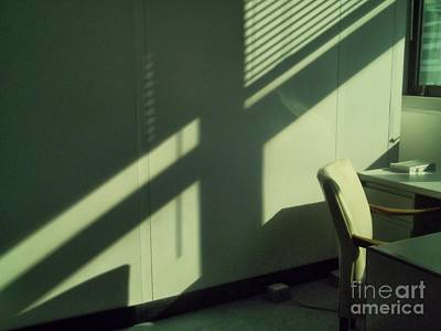 Photograph - Office After-hours - Chair And Book - Interiors by Miriam Danar