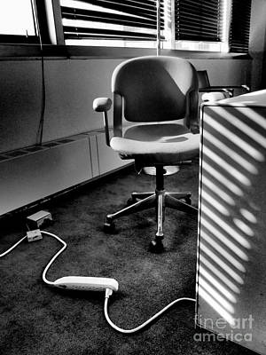 Photograph - Office - Window And Chair by Miriam Danar
