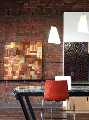Abstract Art Large Scale Mixed Media - Office Commission by Adam Colangelo