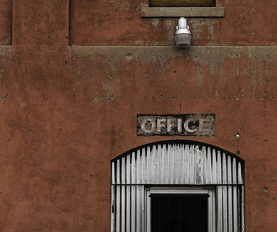 Photograph - Office Door - Architecture by Steven Milner